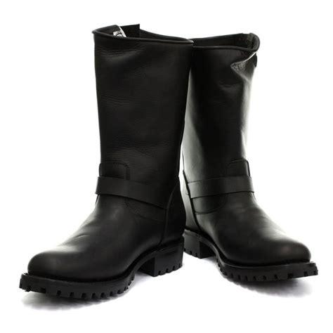 engineer style motorcycle boots grinders one engineer boot black