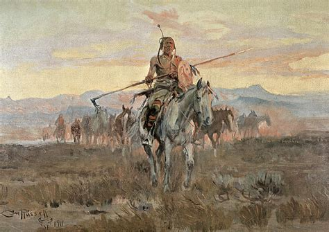 french film cowboy indian horse stolen horses painting by charles marion russell