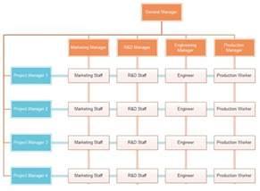 matrix organizational chart template matrix org chart exle org charting
