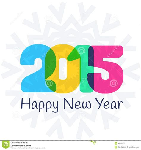 new year card 2015 vector happy new year 2015 retro greeting card vector