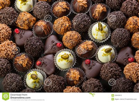 Handcrafted Chocolates - handmade chocolates stock photography image 25843612