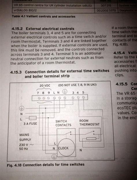 vaillent ecotec boiler wiring diynot forums