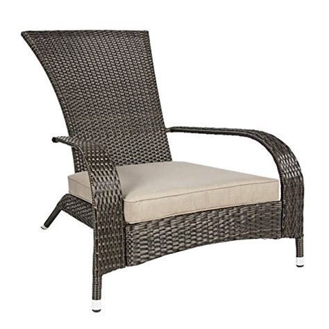 outdoor home decor with rattan chair quecasita best choiceproducts wicker adirondack chair patio porch