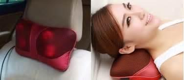 Bantal Leher Neck Pillow Bantal U Bantal Mobil Kartun bantal pijat shiatsu car heat neck pillow jakartanotebook