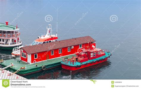 fire boat plans red fire boat stand moored near floating fire station