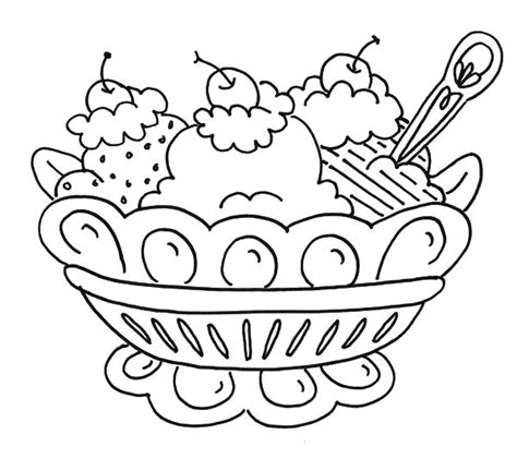 coloring page ice cream sundae banana split and ice cream coloring pages bulk color
