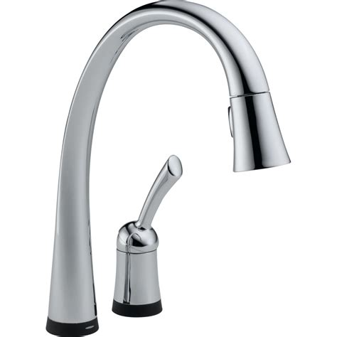 delta pilar kitchen faucet delta faucet 980t dst pilar polished chrome pullout spray