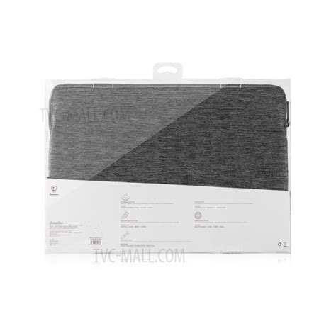 Baseus Sleeve For Macbook Pro 15 Inch All Varian Rc baseus laptop bag sleeve pouch for new macbook pro 13 inch pro 12 9 grey tvc mall