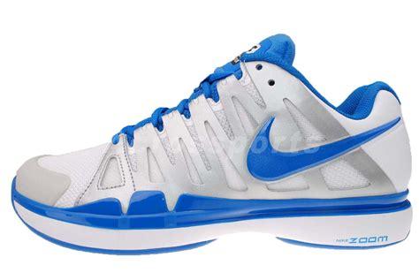 nike zoom vapor 9 tour roger federer white blue air tennis