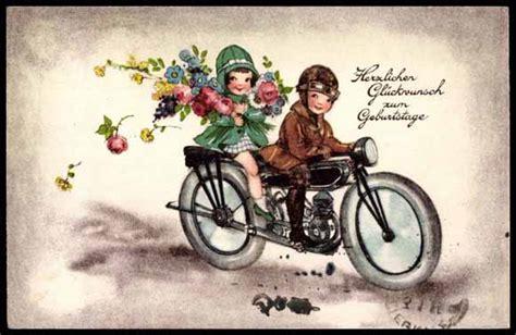 Motorradbekleidung Englisch by Ansichtskarte Postkarte Kinder Auf Einem Motorrad