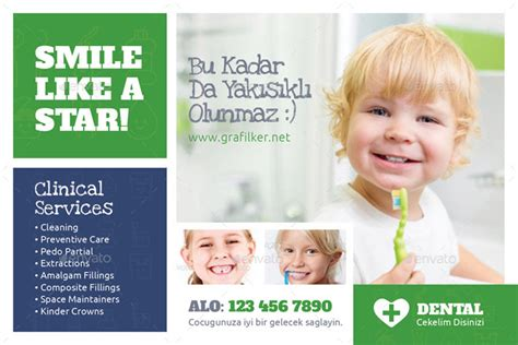 15 Attractive Kids Print Ready Flyer Templates Dental Postcards Templates