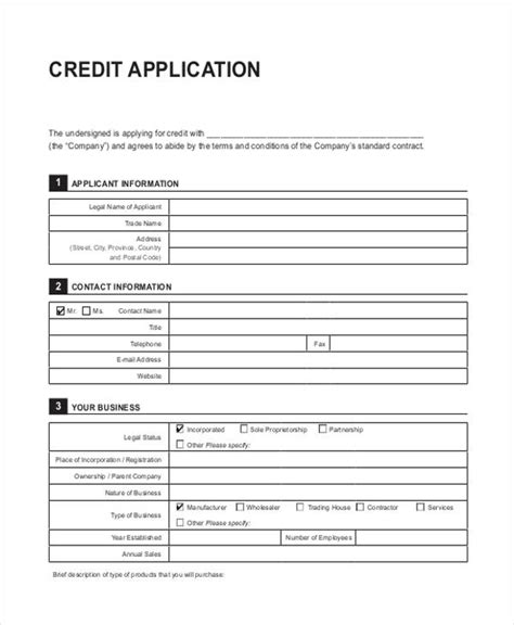 generic credit application template 41 application templates in pdf free premium templates