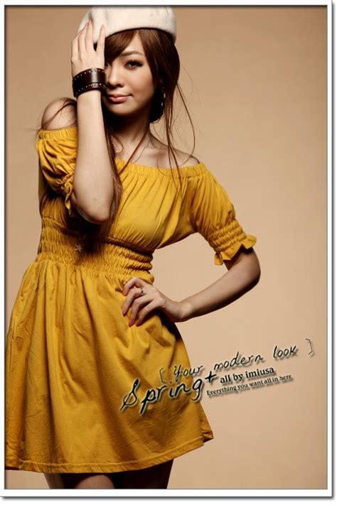 Pakaian Wanita Azzurra 348 51 Dress Ds51 Yellow Rdy Dari Butik Baju Tamochi Di Pakaian