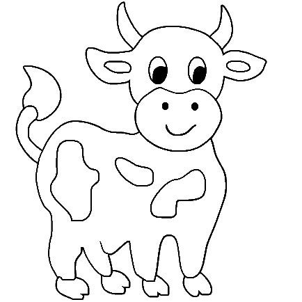 cute cow animal coloring books for kids drawing
