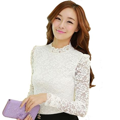 Crisp Feminine Top 4 by Aliexpress Buy White Sleeve Lace Tops Stand