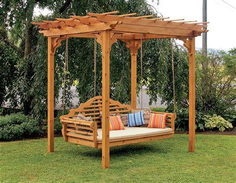 swing pergola you thought of adding swing to your pergola
