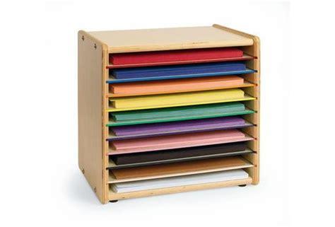 paper sorter shelves 9 quot x 12 quot color coded construction paper organizer crafts crafts construction