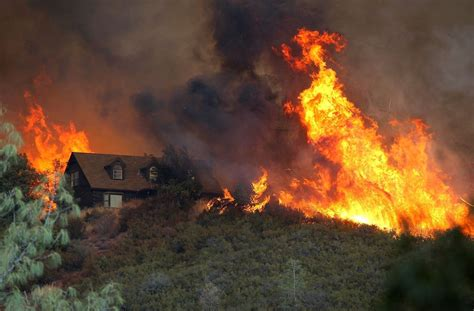 The On Socal Fires by Caused That Destroyed 11 Homes In Monterey