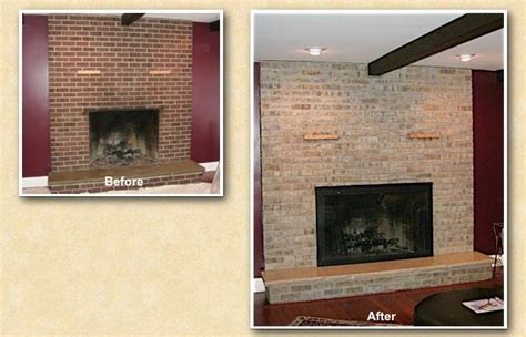 hinsdale brick fireplace staining painting refinishing