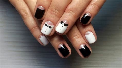 modele ongle gel noir et blanc modele ongle gel noir et blanc ongles en gel courts en
