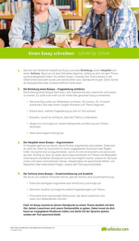 Essay Fragestellung Beispiel by Wie Schreibt Ein Essay