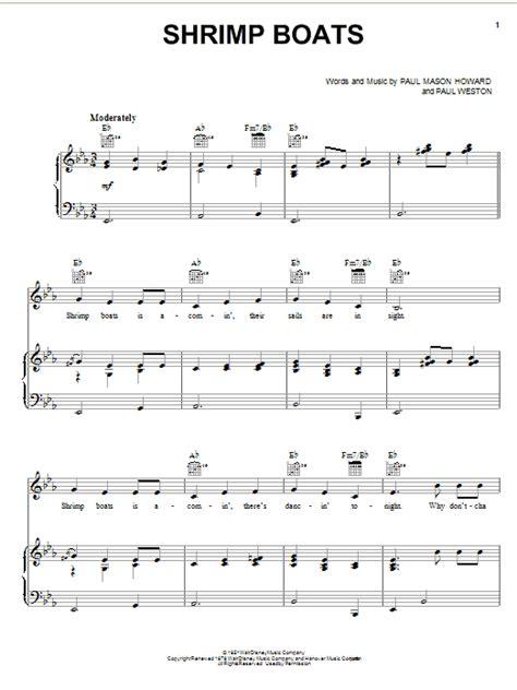 shrimp boat song lyrics jo stafford shrimp boats sheet music