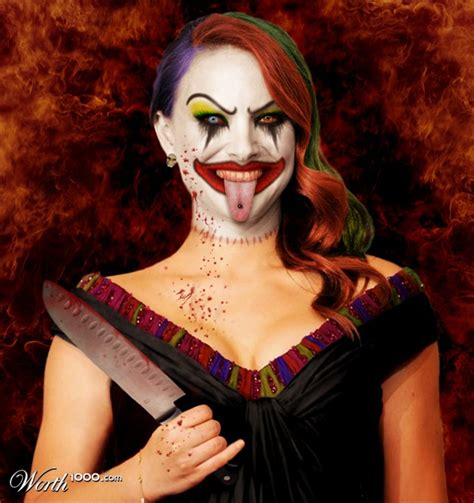 The Natalie Portman Is Scary by Evil Clown Cool Photo Effect And Manipulations