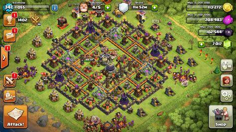 layout coc level 21 clash of clans max level 10 car interior design