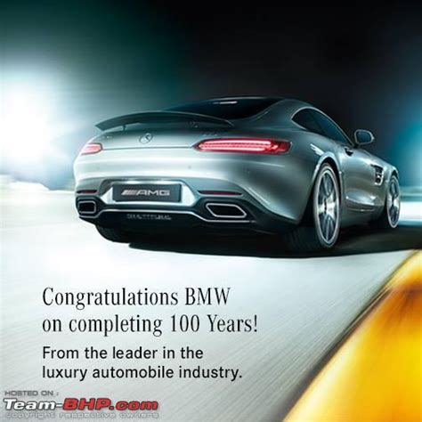 On Bmw S 100th Birthday Mercedes Invites Bmw Employees To