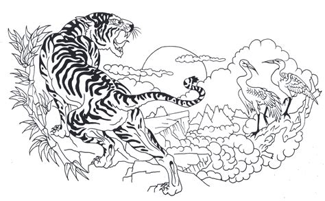 tiger tattoo outline designs symbol tattoos tribal flower design outline tiger