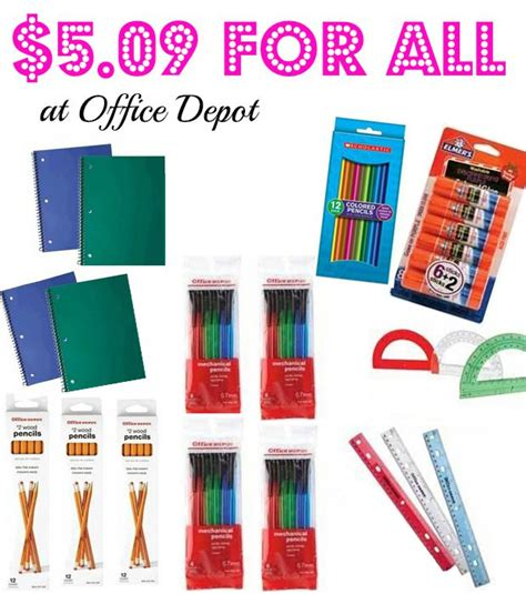 Office Supplies Home Depot Whoa 19 School Supplies For Only 5 09 Deal At