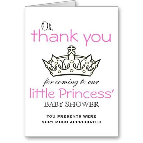 Princess Baby Shower Thank You Cards