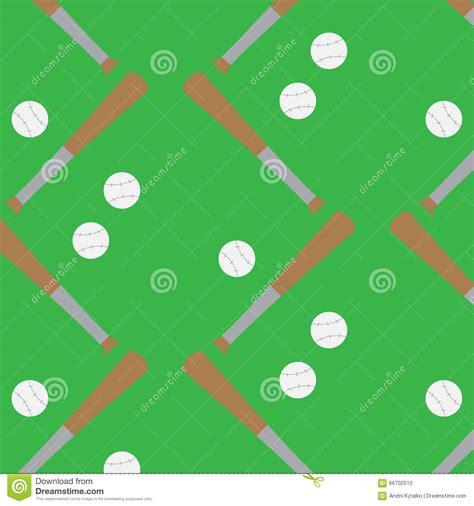 game design equipment seamless pattern baseball stock vector illustration of