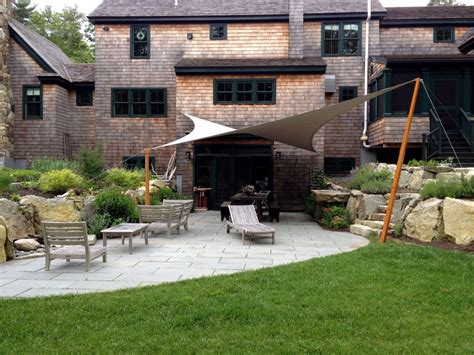 back patio awnings project spotlight tension awning in duxbury ma