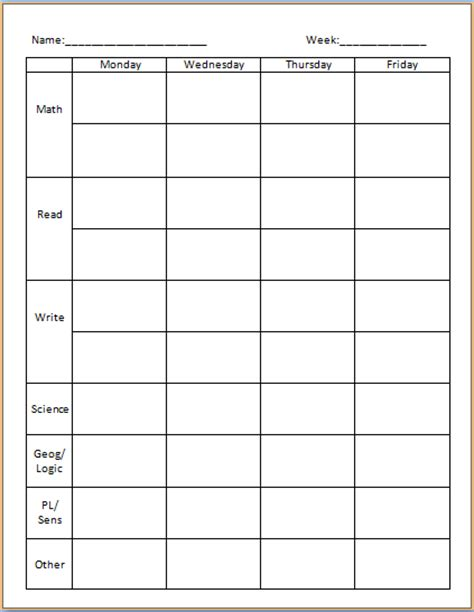 printable montessori work plans grace and green pastures reworking the work plan