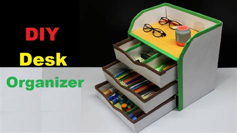 diy desk organizers how to make a diy desk organizer using cardboard