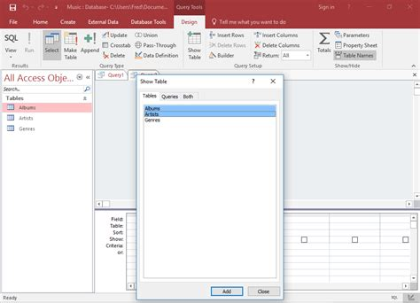 a quick tutorial on queries in microsoft access 2007 access 2016 create a query
