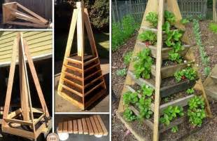 vertical pyramid garden planter diy icreatived