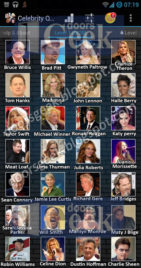 uk celebrities quiz celebrity quiz level 1 doors geek