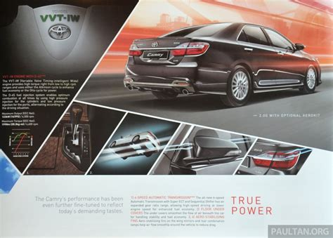Toyota Camry Brochure 2015 Toyota Camry Launched In Malaysia New 6 Spd 2 0e