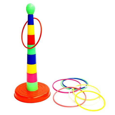Backyard Quoits 1 Set Children Outdoor Plastic Ring Toss Quoits
