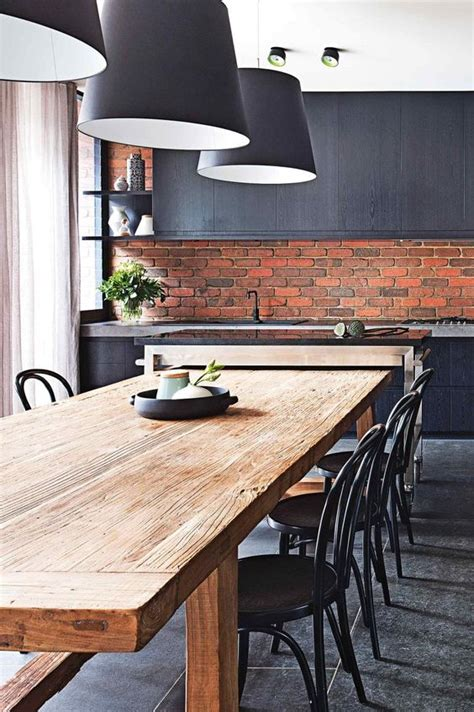 Backsplash For Black And White Kitchen 30 trendy brick accent wall ideas for every room digsdigs