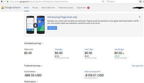 adsense questions google adsense records current balance as negative value