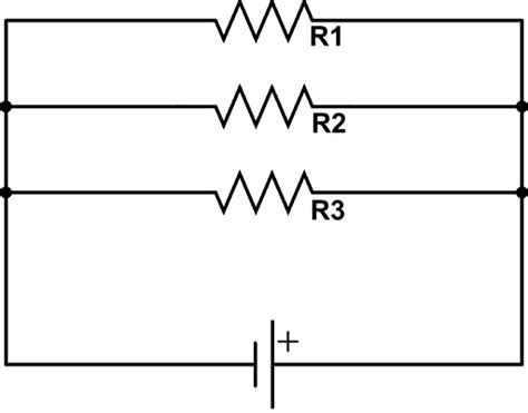 three resistors connected in parallel the individual voltages labeled resistors in parallel