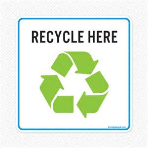 recycle sign template repositionable custom sign decal sticker genius
