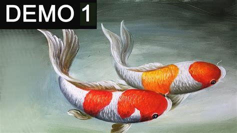 acrylic paint translate paint koi fish with acrylic on canvas demo 1
