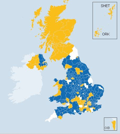 map uk vote brexit brexit how northern ireland voted uk set to leave the