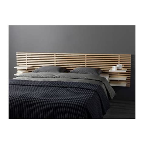 mandal headboard mandal headboard birch white 240 cm ikea