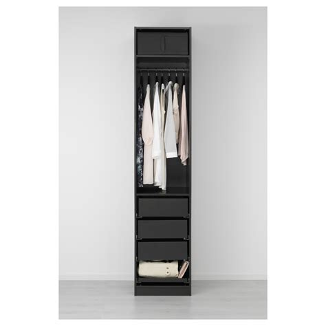 pax wardrobe black brown nexus black brown 50x60x236 cm ikea