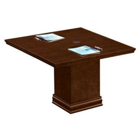 Square Meeting Table Horizons 4 Ft Square Conference Table By Nbf Officefurniture